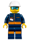 Minifig No: cty1010  Name: Ground Crew Technician - Male, Jumpsuit and Construction Helmet