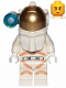 Minifig No: cty1027  Name: Astronaut - Male, White Spacesuit with Orange Lines, Side Lamp, Smirk and Cheek Lines