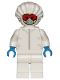 Minifig No: cty1029  Name: Drone Engineer - White Safety Jumpsuit, Red Goggles and White Mask