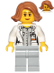 Minifig No: cty1035  Name: Scientist, Botanist - Female, Glasses and Medium Dark Flesh Hair Short Swept Sideways