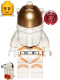 Minifig No: cty1039  Name: Astronaut - Female, White Spacesuit with Orange Lines, Side Lamp, Smile