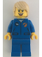 Minifig No: cty1067  Name: Astronaut - Female, Blue Jumpsuit, Tan Hair Tousled with Side Part, Freckles, Open Smile with Teeth