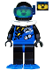 Minifig No: div001a  Name: Divers - Blue, Black Helmet, Blue Flippers