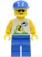 Minifig No: div003  Name: Divers - Boatie 1, Blue Cap