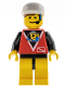 Minifig No: div008  Name: Divers - Control 1, Yellow Legs with Black Hips, White Cap