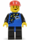 Minifig No: div013  Name: Divers - Blue, Red Cap