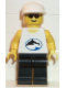 Minifig No: div021  Name: Divers - Blue Oval and Black Dolphin Pattern
