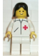 Minifig No: doc004  Name: Doctor - Straight Line, White Legs, Black Female Hair