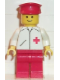 Minifig No: doc012  Name: Doctor - Straight Line, Red Legs, Red Hat