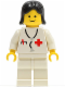 Minifig No: doc016  Name: Doctor - Stethoscope, White Legs, Black Female Hair