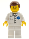 Minifig No: doc027  Name: Doctor - EMT Star of Life Button Shirt, White Legs, Reddish Brown Male Hair