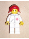 Minifig No: doc029  Name: Doctor - Straight Line, White Legs, Red Pigtails Hair