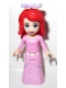 Minifig No: dp004  Name: Ariel - Bright Pink Dress with White Stars, Bow