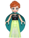 Minifig No: dp033  Name: Anna - Dark Turquoise Cape (41147)