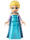 Minifig No: dp034  Name: Elsa - Medium Blue Long Narrow Cape, Lavender Sleeves