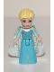 Minifig No: dp035  Name: Elsa - Sparkly Light Aqua Cape