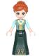 Minifig No: dp041  Name: Anna - Sand Green Top, Dark Green Skirt
