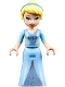 Minifig No: dp051  Name: Cinderella - Two-Colored Dress and Brown Eyebrows (41154)