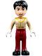 Minifig No: dp052  Name: Prince Charming - Dark Tan Top