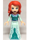 Minifig No: dp062  Name: Ariel - Light Aqua Dress with Silver Starfish and Shells