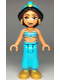 Minifig No: dp068  Name: Jasmine - Pearl Gold Shoes