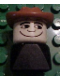 Minifig No: dupfig014  Name: Duplo 2 x 2 x 2 Figure Brick Early, Male on Black Base, Fabuland Brown Western Hat, looks Left