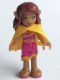 Minifig No: elf007  Name: Azari Firedancer, Magenta with Cape (41077)