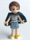 Minifig No: elf009  Name: Emily Jones, Sand Blue Shorts - with Cape (41078)