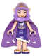Minifig No: elf019  Name: Aira Windwhistler, Long Cape and Hood (41180)