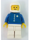 Minifig No: env001  Name: Coast Guard Pilot Old Style 4 Buttons - White Classic Helmet, Torso Sticker (set 575)