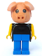 Minifig No: fab11b  Name: Fabuland Figure Pig 2