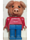 Minifig No: fab11c  Name: Fabuland Figure Pig 3