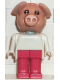 Minifig No: fab11f  Name: Fabuland Figure Pig 6