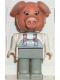 Minifig No: fab11g  Name: Fabuland Figure Pig 7