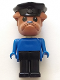 Minifig No: fab2a  Name: Fabuland Figure Bulldog 1 with Police Hat