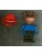 Minifig No: fab2e  Name: Fabuland Figure Bulldog 1 with Fire Helmet