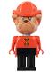 Minifig No: fab2f  Name: Fabuland Figure Bulldog 7 with Fire Helmet