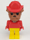 Minifig No: fab2g  Name: Fabuland Figure Bulldog 6 with Fire Helmet