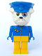 Minifig No: fab2j  Name: Fabuland Figure Bulldog 3 with Police Hat and Post Pattern