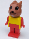 Minifig No: fab3a  Name: Fabuland Figure Bunny 1