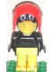Minifig No: fab4h  Name: Fabuland Figure Crow 1 with Aviator Helmet and White Eyes