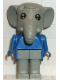 Minifig No: fab5a  Name: Fabuland Figure Elephant 1
