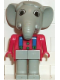 Minifig No: fab5c  Name: Fabuland Figure Elephant 3