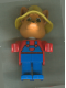 Minifig No: fab5f  Name: Fabuland Figure Fox 2 with Yellow Hat