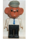 Minifig No: fab8a  Name: Fabuland Figure Monkey 1 with Light Gray Hat