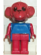 Minifig No: fab8c  Name: Fabuland Figure Monkey 7