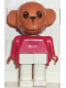 Minifig No: fab8e  Name: Fabuland Figure Monkey 5
