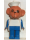 Minifig No: fab8h  Name: Fabuland Figure Monkey 3 with White Hat
