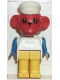Minifig No: fab8i  Name: Fabuland Figure Monkey 6 with White Hat