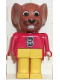 Minifig No: fab9b  Name: Fabuland Figure Mouse 2
